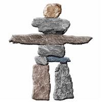 Inuit Testimonial Rock Statue